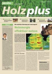 Heizenergie effektiver nutzen - Pavatex