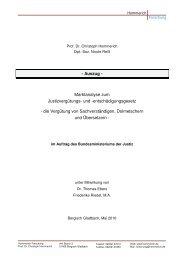 Marktanalyse zum Justizvergütungs- und -entschädigungsgesetz
