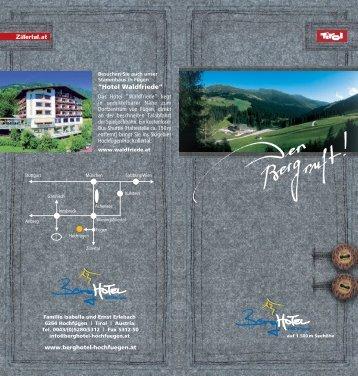 """""""Hotel Waldfriede"""" - Berghotel Hochfuegen"""