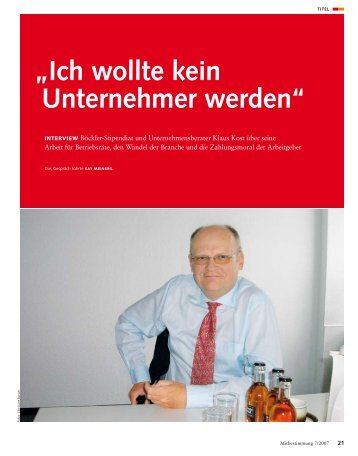 Interview mit Klaus Kost - PCG - PROJECT CONSULT GmbH