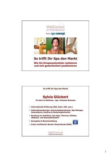 Sylvia Glückert Vortrag Wellness-Forum 30.10.09 1
