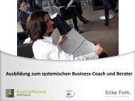 Ausbildung syst. Business Coach & Berater - Silke Foth