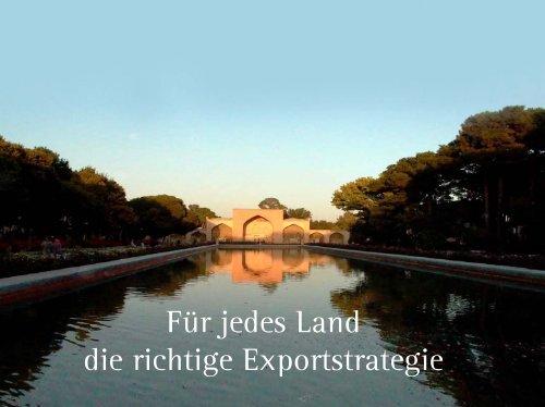 Für jedes Land die richtige Exportstrategie - shakiba.de