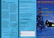 WELTENBUMMLER Finnland Abenteuer Jakobsweg Die Anden