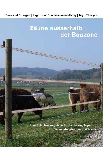Broschüre Zäune ausserhalb der Bauzone - Jagd Thurgau