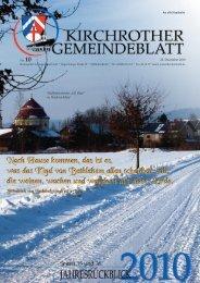 Nr. 10 (Dez. 2010 - 36 Seiten) - Gemeinde Kirchroth