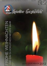 Nr. 18 (Dez. 2012 - 40 Seiten) - Gemeinde Kirchroth