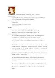 Dr. Barbara Igel Associate Professor, Asian Institute of ... - Nectec