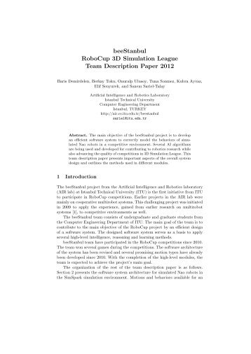 beeStanbul - Artificial Intelligence and Robotics Laboratory
