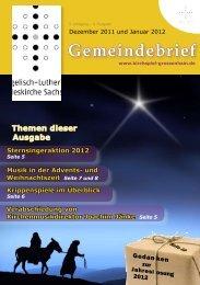 Gemeindebrief Dezember und Januar - Kirchspiel Großenhainer Land