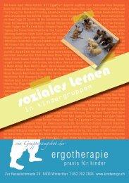 Soziales lernen in Kindergruppen - Kinderergo.ch : Ergotherapie ...