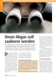Unser Abgas soll sauberer werden - Abgastechnik Forum