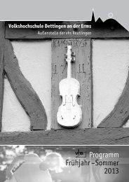 Programm Frühjahr –Sommer 2O13 - Gemeinde Dettingen an der ...