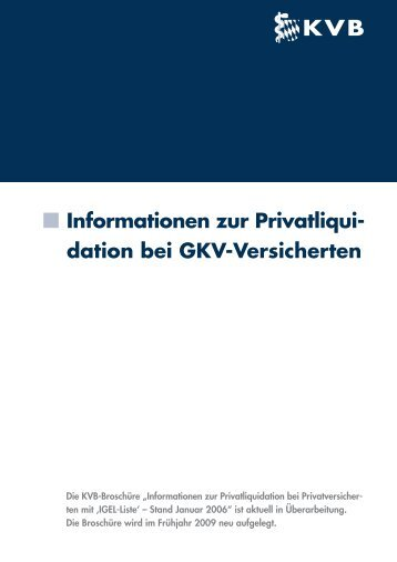 Informationen Privatliquidation-GKV Versicherte