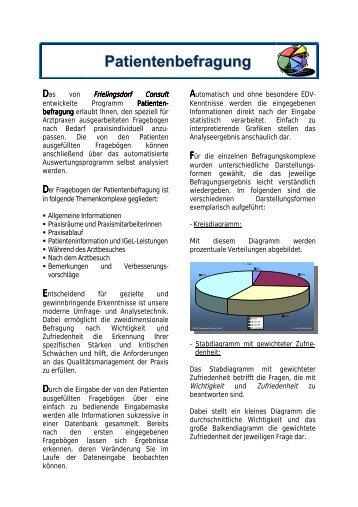 Patientenbefragung - Frielingsdorf Consult