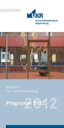 Programm 2012 (pdf) - Universitätsklinikum Regensburg