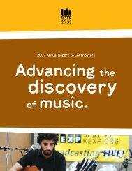 2007 Annual Report to Contributors - KEXP