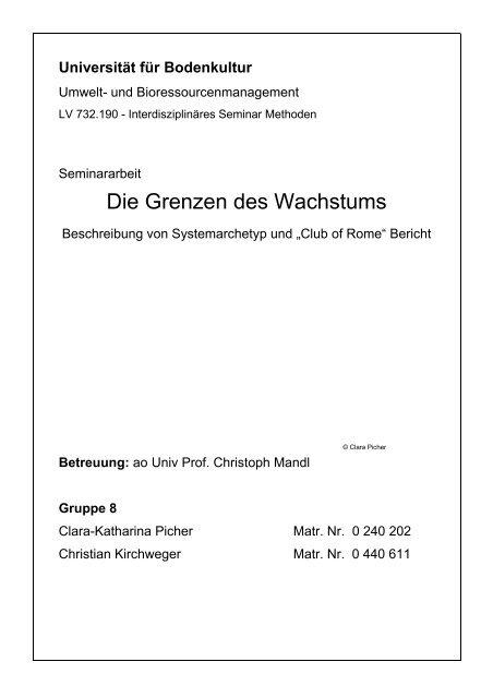 Die Grenzen des Wachstums - WikiService.at