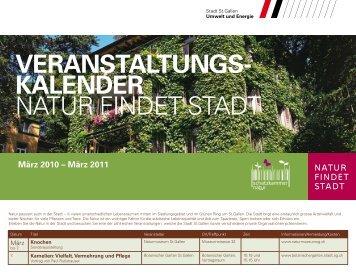 Veranstaltungskalender 2010 - Stadt St.Gallen