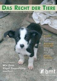 DAS RECHT DER TIERE DAS RECHT DER TIERE - Bund gegen ...