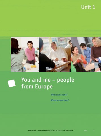 You and me – people from Europe - Hueber