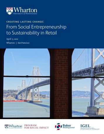 Sustainability in Retail and Social Innovation - The Wharton School ...
