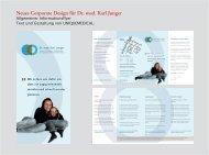 Neues Corporate Design für Dr. med. Karl Junger - UNIQUEMEDICAL.
