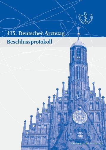 Beschlussprotokoll als PDF-Dokument öffnen - Bundesärztekammer