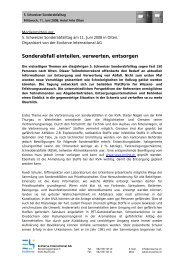 Zusammenfassung SAT 2008 - EcoServe International AG