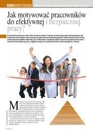 Jak motywować pracowników do efektywnej i bezpiecznej pracy?