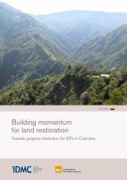 Building momentum for land restoration - Internal Displacement ...