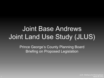 JLUS - Prince George's County Planning Department