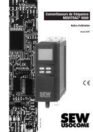 Convertisseurs de fréquence MOVITRAC® 0500 - SEW-EURODRIVE