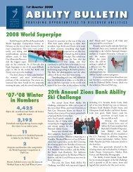 1st Quarter 2008 ABILITY BULLETIN - National Ability Center