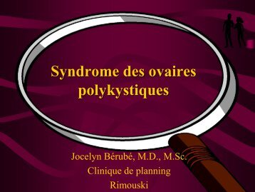 Syndrome des ovaires polykystiques - FMF