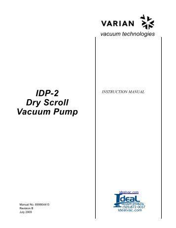 Varian, 947, 948, 960 Leak Detectors, Service Manual