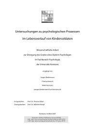 Untersuchungen zu psychologischen Prozessen im Lebensverlauf ...