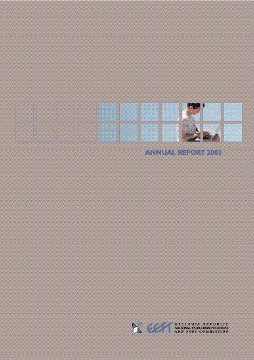 annual report 2003 - EETT
