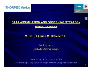 DATA ASSIMILATION AND OBSERVING STRATEGY M. Sc ... - UCAR