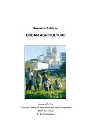 Resource Guide on Urban Agriculture - alnap
