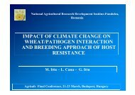 impact of climate change on impact of climate change on wheat ...