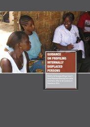 guidance on profiling internally displaced persons - OCHANet