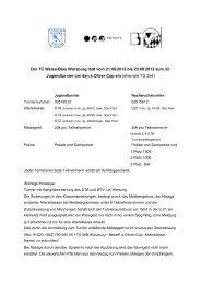 Turnierausschreibung als pdf - Tennisclub Weiss-Blau Wuerzburg