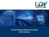 NIST/NSTIC-IDtrust 2012-Online Identity Attribute Exchange-2012 ...