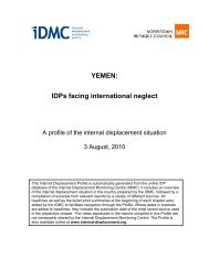 YEMEN: IDPs facing international neglect - Internal Displacement ...