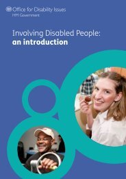 Involving Disabled People: an introduction - Office for Disability Issues