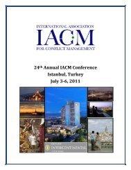 IACM 2011 Conference Program.pdf - Stephen M. Ross School of ...