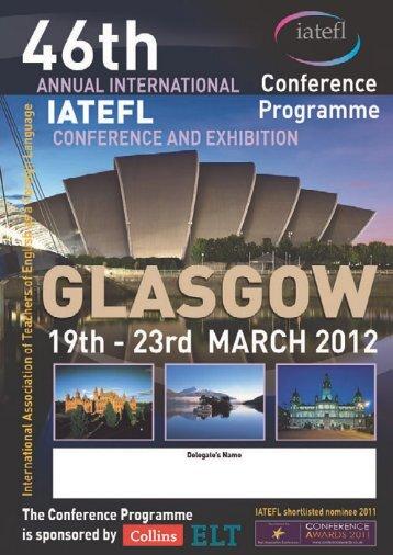 Conference Programme - Iatefl Online