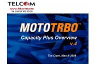 Mototrbo Capacity Plus Overview v.4 - Telcom