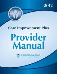 Care Improvement Plus! This provider manual